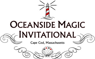 Logo for Cape Cod magic convention, Oceanside Magic Invitational